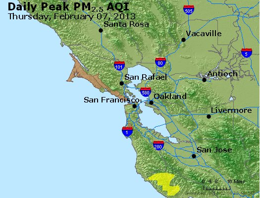 Peak Particles PM<sub>2.5</sub> (24-hour) - https://files.airnowtech.org/airnow/2013/20130207/peak_pm25_sanfrancisco_ca.jpg