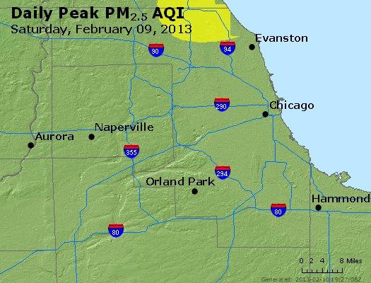 Peak Particles PM<sub>2.5</sub> (24-hour) - https://files.airnowtech.org/airnow/2013/20130209/peak_pm25_chicago_il.jpg