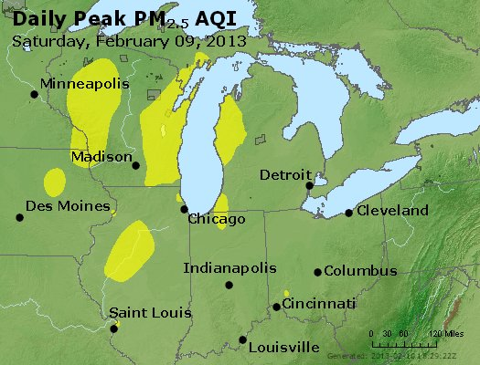 Peak Particles PM<sub>2.5</sub> (24-hour) - https://files.airnowtech.org/airnow/2013/20130209/peak_pm25_mi_in_oh.jpg