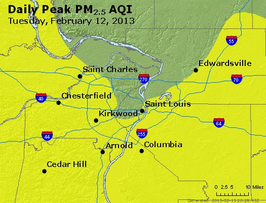 Peak Particles PM<sub>2.5</sub> (24-hour) - https://files.airnowtech.org/airnow/2013/20130212/peak_pm25_stlouis_mo.jpg