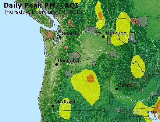Peak Particles PM<sub>2.5</sub> (24-hour) - https://files.airnowtech.org/airnow/2013/20130214/peak_pm25_wa_or.jpg