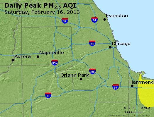 Peak Particles PM<sub>2.5</sub> (24-hour) - https://files.airnowtech.org/airnow/2013/20130216/peak_pm25_chicago_il.jpg