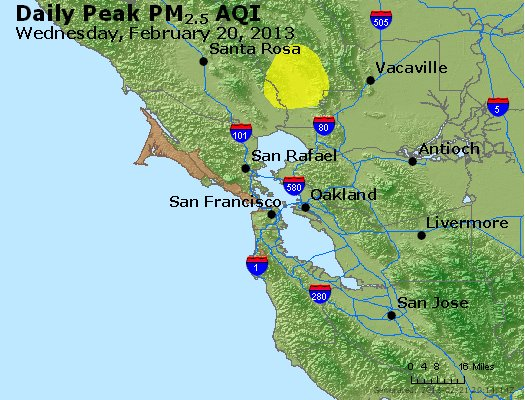 Peak Particles PM<sub>2.5</sub> (24-hour) - https://files.airnowtech.org/airnow/2013/20130220/peak_pm25_sanfrancisco_ca.jpg