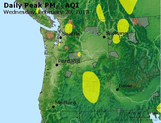 Peak Particles PM<sub>2.5</sub> (24-hour) - https://files.airnowtech.org/airnow/2013/20130220/peak_pm25_wa_or.jpg