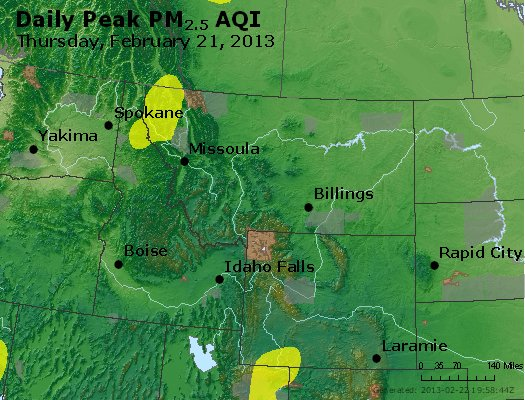 Peak Particles PM<sub>2.5</sub> (24-hour) - https://files.airnowtech.org/airnow/2013/20130221/peak_pm25_mt_id_wy.jpg