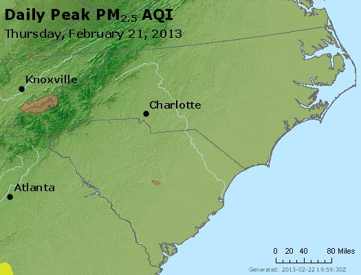 Peak Particles PM2.5 (24-hour) - https://files.airnowtech.org/airnow/2013/20130221/peak_pm25_nc_sc.jpg