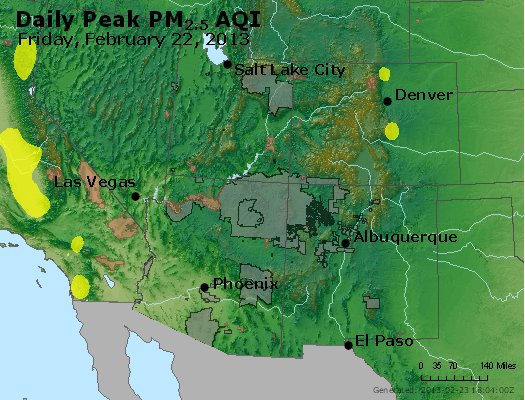 Peak Particles PM<sub>2.5</sub> (24-hour) - https://files.airnowtech.org/airnow/2013/20130222/peak_pm25_co_ut_az_nm.jpg