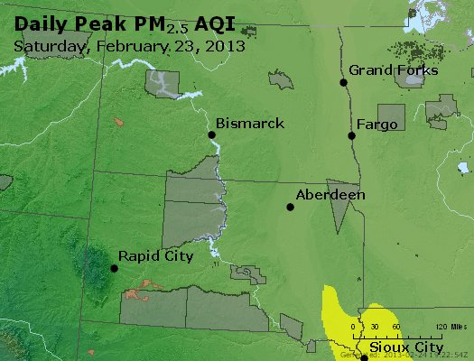 Peak Particles PM2.5 (24-hour) - https://files.airnowtech.org/airnow/2013/20130223/peak_pm25_nd_sd.jpg