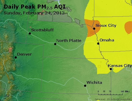 Peak Particles PM<sub>2.5</sub> (24-hour) - https://files.airnowtech.org/airnow/2013/20130224/peak_pm25_ne_ks.jpg