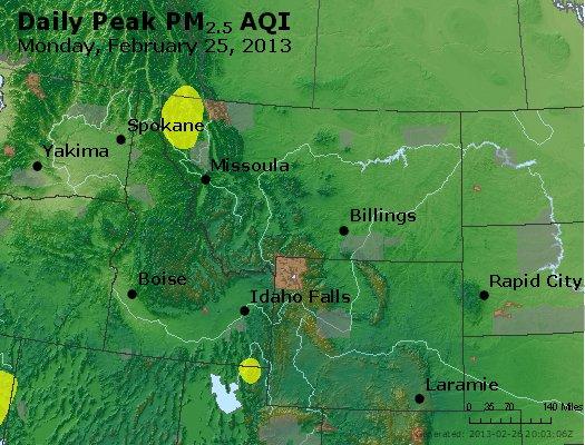 Peak Particles PM<sub>2.5</sub> (24-hour) - https://files.airnowtech.org/airnow/2013/20130225/peak_pm25_mt_id_wy.jpg