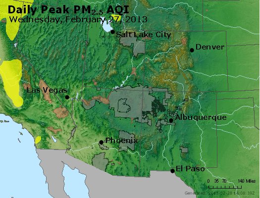 Peak Particles PM<sub>2.5</sub> (24-hour) - https://files.airnowtech.org/airnow/2013/20130227/peak_pm25_co_ut_az_nm.jpg