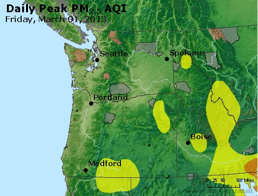 Peak Particles PM<sub>2.5</sub> (24-hour) - https://files.airnowtech.org/airnow/2013/20130301/peak_pm25_wa_or.jpg