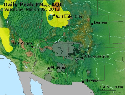 Peak Particles PM<sub>2.5</sub> (24-hour) - https://files.airnowtech.org/airnow/2013/20130302/peak_pm25_co_ut_az_nm.jpg
