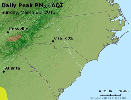 Peak Particles PM2.5 (24-hour) - https://files.airnowtech.org/airnow/2013/20130303/peak_pm25_nc_sc.jpg