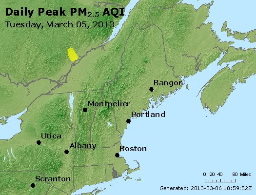 Peak Particles PM<sub>2.5</sub> (24-hour) - https://files.airnowtech.org/airnow/2013/20130305/peak_pm25_vt_nh_ma_ct_ri_me.jpg