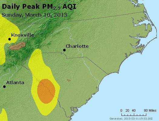 Peak Particles PM2.5 (24-hour) - https://files.airnowtech.org/airnow/2013/20130310/peak_pm25_nc_sc.jpg