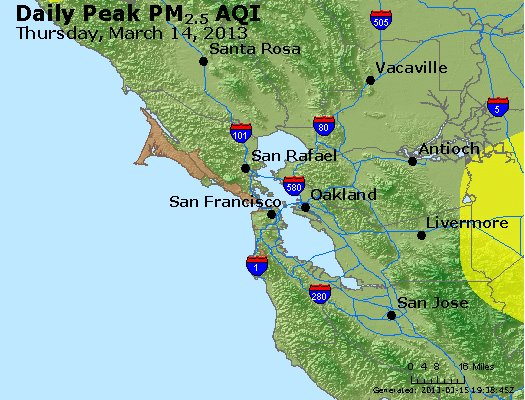 Peak Particles PM<sub>2.5</sub> (24-hour) - https://files.airnowtech.org/airnow/2013/20130314/peak_pm25_sanfrancisco_ca.jpg