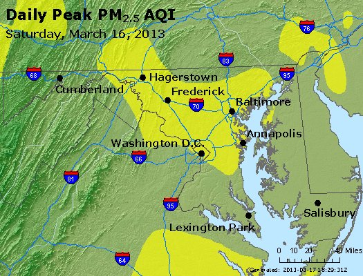 Peak Particles PM<sub>2.5</sub> (24-hour) - https://files.airnowtech.org/airnow/2013/20130316/peak_pm25_maryland.jpg