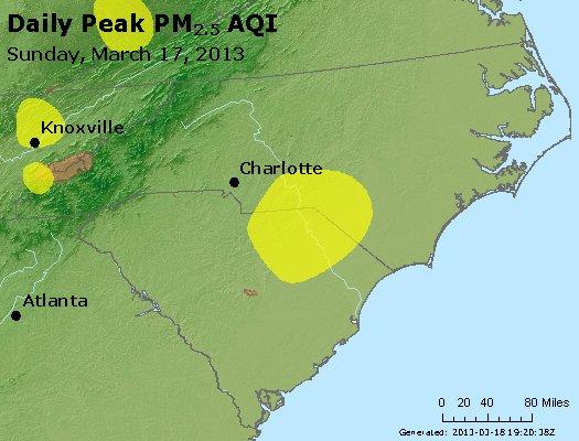 Peak Particles PM2.5 (24-hour) - https://files.airnowtech.org/airnow/2013/20130317/peak_pm25_nc_sc.jpg