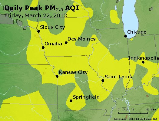 Peak Particles PM<sub>2.5</sub> (24-hour) - https://files.airnowtech.org/airnow/2013/20130322/peak_pm25_ia_il_mo.jpg