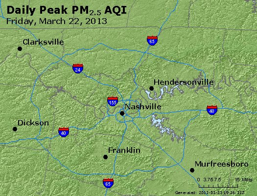 Peak Particles PM<sub>2.5</sub> (24-hour) - https://files.airnowtech.org/airnow/2013/20130322/peak_pm25_nashville_tn.jpg