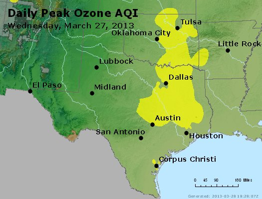 Peak Ozone (8-hour) - https://files.airnowtech.org/airnow/2013/20130327/peak_o3_tx_ok.jpg