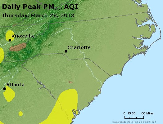 Peak Particles PM2.5 (24-hour) - https://files.airnowtech.org/airnow/2013/20130328/peak_pm25_nc_sc.jpg