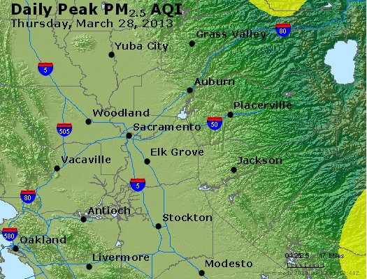 Peak Particles PM<sub>2.5</sub> (24-hour) - https://files.airnowtech.org/airnow/2013/20130328/peak_pm25_sacramento_ca.jpg