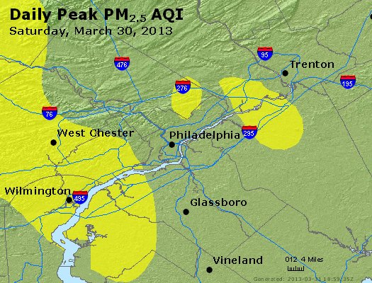 Peak Particles PM<sub>2.5</sub> (24-hour) - https://files.airnowtech.org/airnow/2013/20130330/peak_pm25_philadelphia_pa.jpg