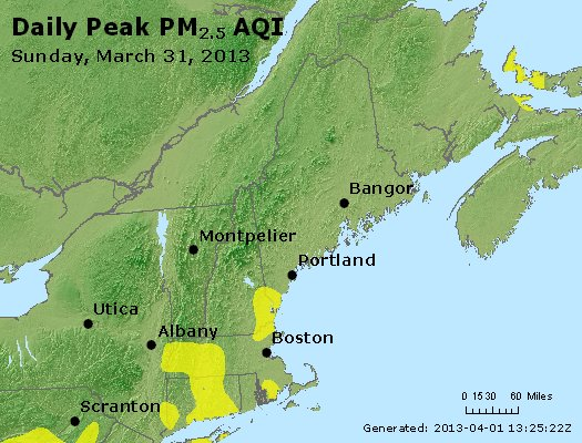 Peak Particles PM<sub>2.5</sub> (24-hour) - https://files.airnowtech.org/airnow/2013/20130331/peak_pm25_vt_nh_ma_ct_ri_me.jpg