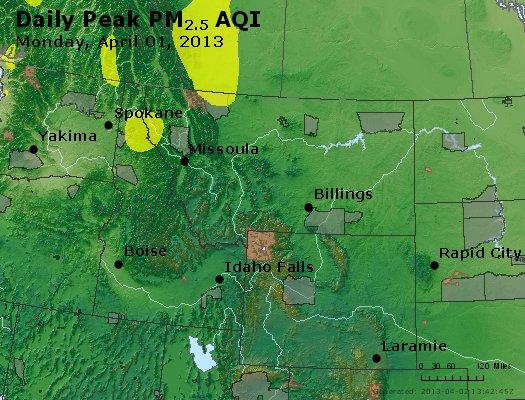 Peak Particles PM2.5 (24-hour) - https://files.airnowtech.org/airnow/2013/20130401/peak_pm25_mt_id_wy.jpg