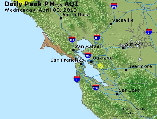 Peak Particles PM<sub>2.5</sub> (24-hour) - https://files.airnowtech.org/airnow/2013/20130403/peak_pm25_sanfrancisco_ca.jpg