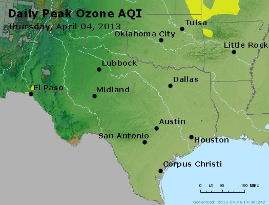Peak Ozone (8-hour) - https://files.airnowtech.org/airnow/2013/20130404/peak_o3_tx_ok.jpg