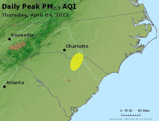 Peak Particles PM2.5 (24-hour) - https://files.airnowtech.org/airnow/2013/20130404/peak_pm25_nc_sc.jpg