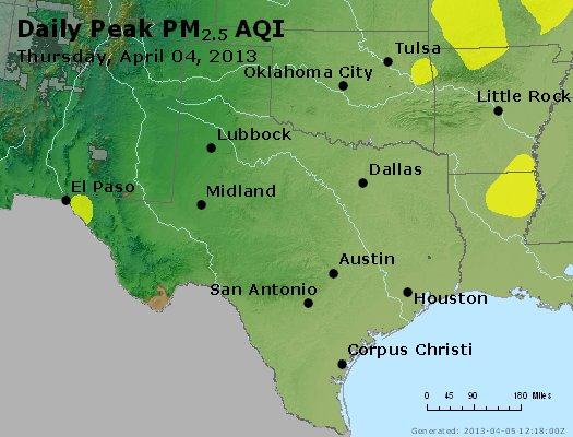 Peak Particles PM2.5 (24-hour) - https://files.airnowtech.org/airnow/2013/20130404/peak_pm25_tx_ok.jpg