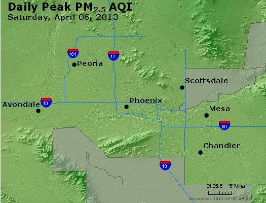Peak Particles PM<sub>2.5</sub> (24-hour) - https://files.airnowtech.org/airnow/2013/20130406/peak_pm25_phoenix_az.jpg