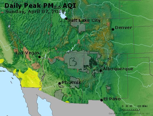 Peak Particles PM2.5 (24-hour) - https://files.airnowtech.org/airnow/2013/20130407/peak_pm25_co_ut_az_nm.jpg