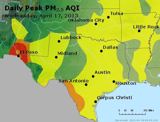 Peak Particles PM2.5 (24-hour) - https://files.airnowtech.org/airnow/2013/20130417/peak_pm25_tx_ok.jpg