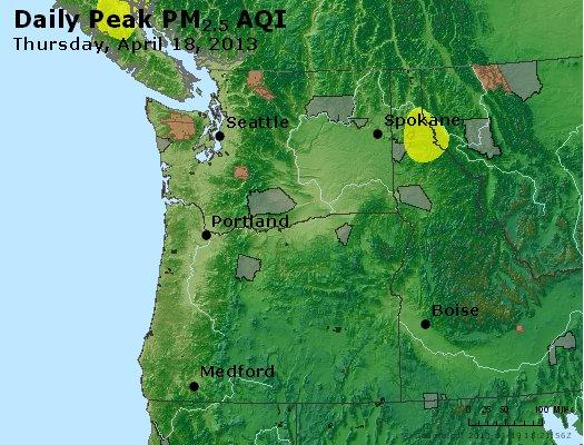 Peak Particles PM<sub>2.5</sub> (24-hour) - https://files.airnowtech.org/airnow/2013/20130418/peak_pm25_wa_or.jpg