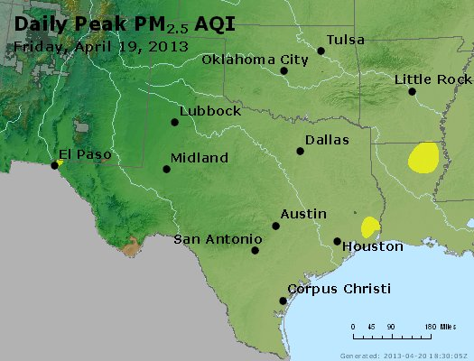 Peak Particles PM2.5 (24-hour) - https://files.airnowtech.org/airnow/2013/20130419/peak_pm25_tx_ok.jpg