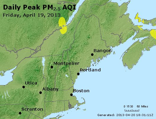 Peak Particles PM<sub>2.5</sub> (24-hour) - https://files.airnowtech.org/airnow/2013/20130419/peak_pm25_vt_nh_ma_ct_ri_me.jpg