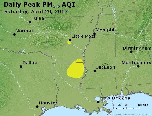 Peak Particles PM2.5 (24-hour) - https://files.airnowtech.org/airnow/2013/20130420/peak_pm25_ar_la_ms.jpg