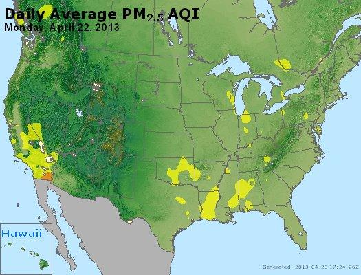 Peak Particles PM<sub>2.5</sub> (24-hour) - https://files.airnowtech.org/airnow/2013/20130422/peak_pm25_usa.jpg