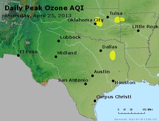 Peak Ozone (8-hour) - https://files.airnowtech.org/airnow/2013/20130425/peak_o3_tx_ok.jpg