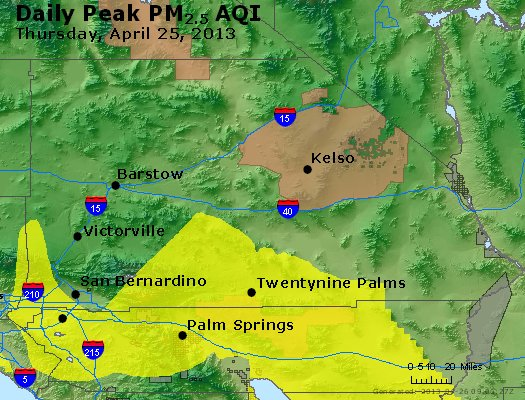 Peak Particles PM<sub>2.5</sub> (24-hour) - https://files.airnowtech.org/airnow/2013/20130425/peak_pm25_sanbernardino_ca.jpg