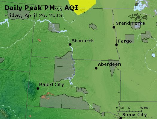 Peak Particles PM2.5 (24-hour) - https://files.airnowtech.org/airnow/2013/20130426/peak_pm25_nd_sd.jpg