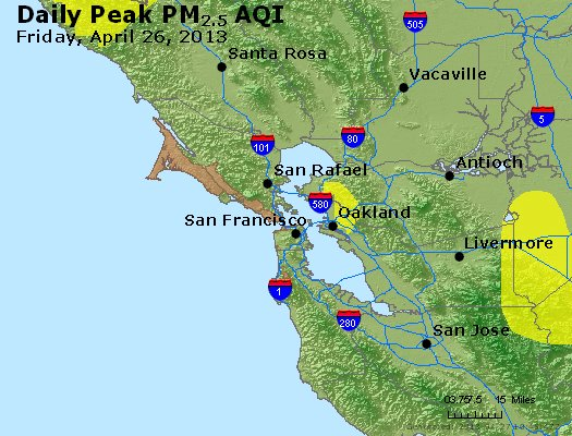 Peak Particles PM<sub>2.5</sub> (24-hour) - https://files.airnowtech.org/airnow/2013/20130426/peak_pm25_sanfrancisco_ca.jpg