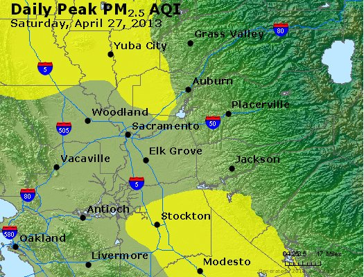 Peak Particles PM<sub>2.5</sub> (24-hour) - https://files.airnowtech.org/airnow/2013/20130427/peak_pm25_sacramento_ca.jpg