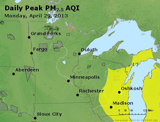 Peak Particles PM2.5 (24-hour) - https://files.airnowtech.org/airnow/2013/20130429/peak_pm25_mn_wi.jpg