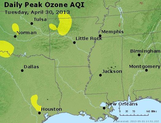 Peak Ozone (8-hour) - https://files.airnowtech.org/airnow/2013/20130430/peak_o3_ar_la_ms.jpg